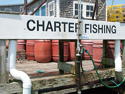 Menemsha charter fishing sign